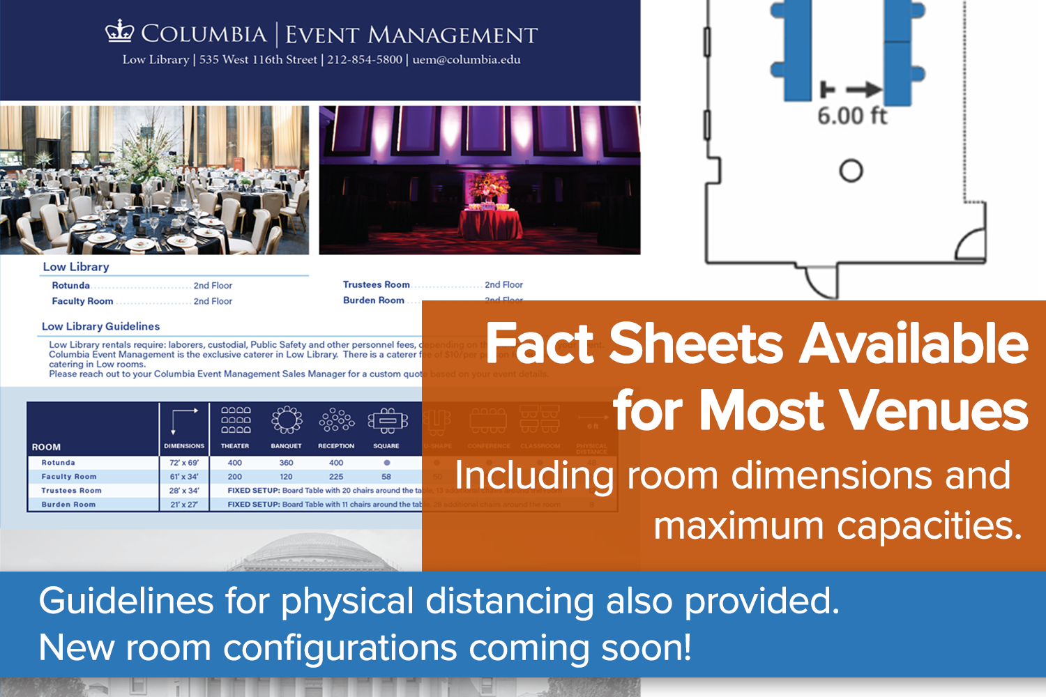 Fact Sheets for Most Venues