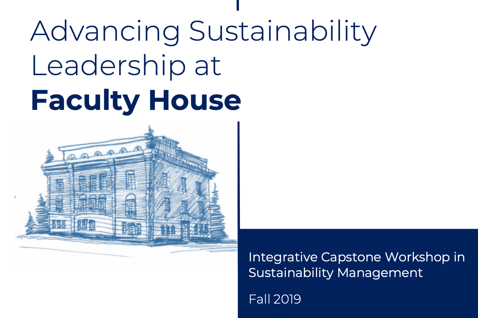 faculty house capstone cover image