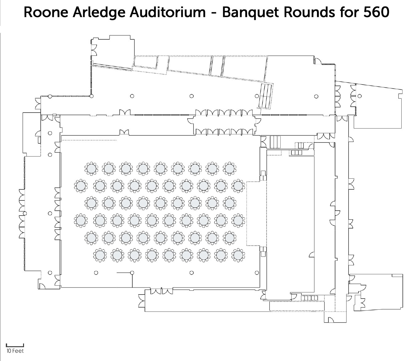 Roone Arledge - Banquet Rounds for 560